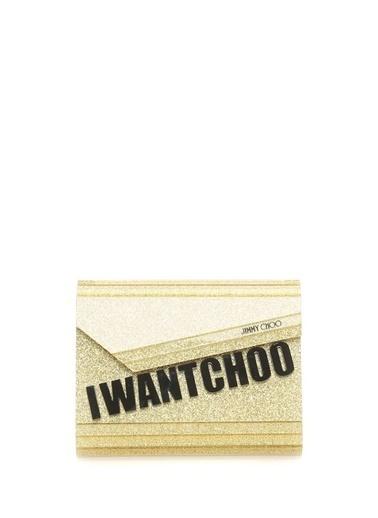 Jimmy Choo Messenger / Askılı Çanta Altın